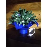 """Cветодиодный светильник-ночник НББ Букет """"Тюльпаны в зелени""""  синии Е27, max 4Вт LED"""