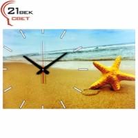 Часы настенные Морская звезда на пляже 6137-265