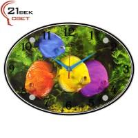 """Часы настенные """"Разноцветные рыбы"""" 2434-1041"""