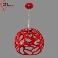 8251/1 красный светильник потолочный