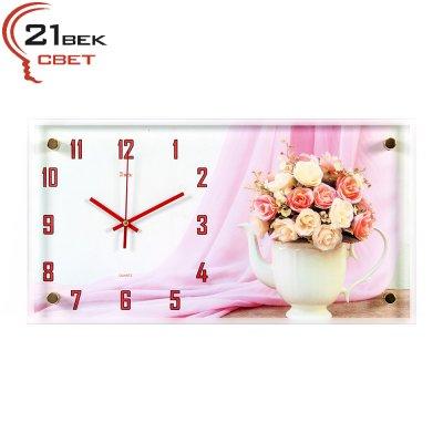 """Часы настенные """"Розы в чайничке""""  5226-727"""