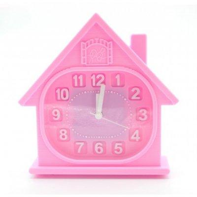 Будильник KR0358 розовый
