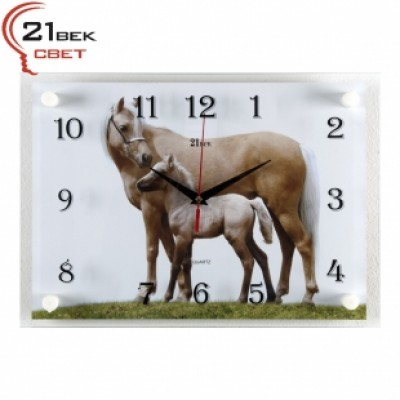 """Часы настенные """"Лошадь и жеребенок"""" 2535-455"""