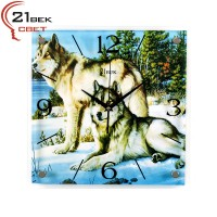 """3535-479 Часы настенные """"Волки"""""""