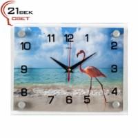 """2026-116 Часы настенные """"Фламинго на море"""""""