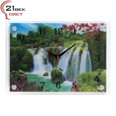"""2535-2801 3D Часы настенные """"Водопад"""""""