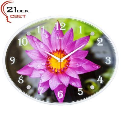 Часы настенные   Хризантема остролистая 3546-957