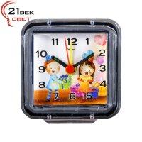 В1-013 Будильник кварц, корпус прозрачный Детский праздник Код товара: В1-013