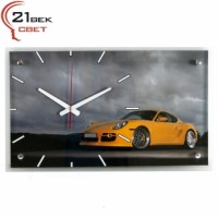 Часы настенные Машина желтая 6036-53