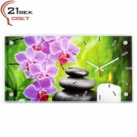 """Часы настенные """"Спа и веточка розовой орхидеи"""" 5226-743"""