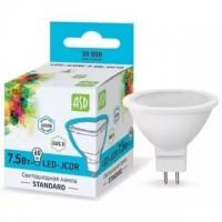 Лампа светодиодная LED-JCDR-standard 7.5Вт 160-260В GU5.3 4000К 600Лм ASD