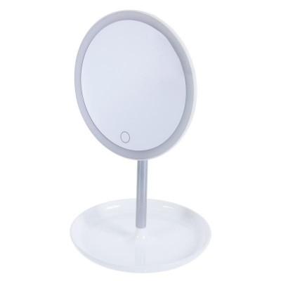 Зеркало настольное с подсветкой Uniel TLD-590 White/LED/80Lm/6000K/Dimmer