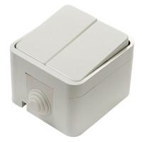 3200 Выключатель 2кл ACQUA белый ASD П/ГЕРМ