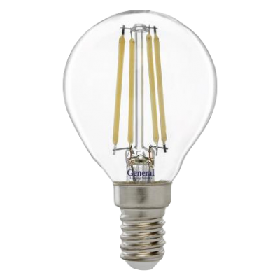 Лампа светодиодная G45S -7Вт  230 Е14 2700К  General