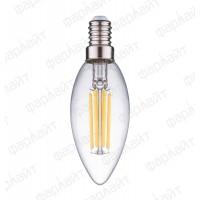 Лампа светодиодная нитевидная прозрачная LED 7 Вт 4000К С35 Е14 Фарлайт