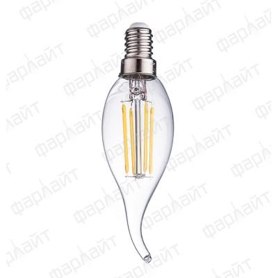 Лампа светодиодная нитевидная прозрачная свеча на ветру LED 7 Вт 4000К СW35 Е14 Фарлайт