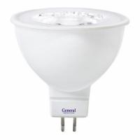 Лампа светодиодная MR16-8Вт 4500К 220 GU5.3  General