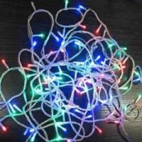 Гирлянда RGB на прозрачном проводе 100 LED,  контроллер