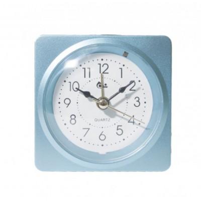 Будильник СТ0102 голубой 10х10х4см