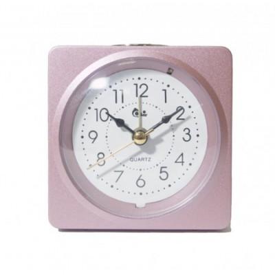 Будильник СТ0102 розовый 10х10х4см