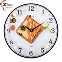 """3030-02 Часы настенные """"Рыбка-бутерброд"""""""
