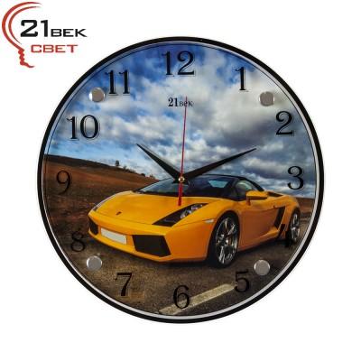"""Часы настенные """"Машина желтая"""" 3030-419"""