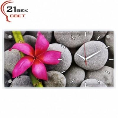 """Часы настенные """"Яркий цветок на камнях"""" 5226-873"""
