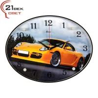 Часы настенные  Машина желтая 3546-747