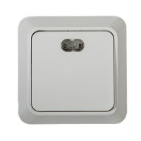 7121-W Выключатель накл 1кл подсветкой BOLLETO белый ASD