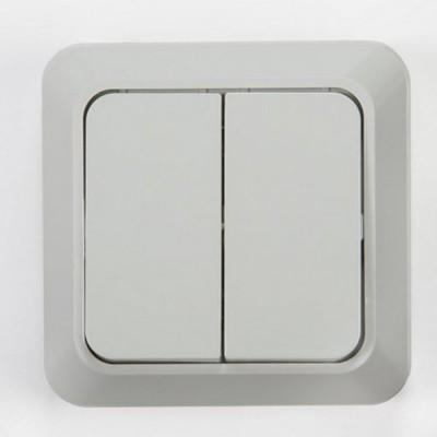 7023-W Выключатель накл 2кл BOLLETO белый ASD