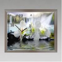 """Часы-картина настенные """"f-159"""" 30х40 см белый"""