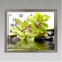 """Часы-картина настенные """"f-160"""" 30х40 см белый"""